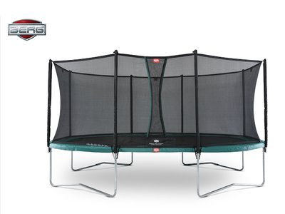 Berg Regular Grand Favorit grün 520 x 350 oval mit Sicherheitsnetz Comfort