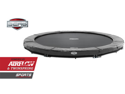 Bodentrampolin BERG InGround Elite 330 grau